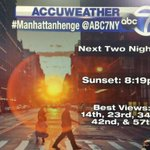 Decent viewing conditions for #Manhattanhenge this evening and tomorrow evening. @Netster3 @abc7ny http://t.co/E6gMexEoUt