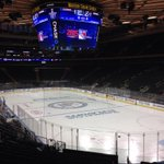 Calm before the storm @TheGarden #Rangers Lightning Game 7. Preview coming up on @MyFoxNY http://t.co/Aom0GGZgtt
