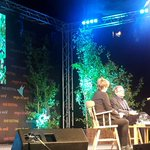 Listening to the delightful memoirist David Lodge talking w/ humour&erudition of his Catholicism at the @hayfestival
