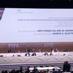 #FIFA presidential vote goes to second round, Blatter still leading http://t.co/jTS4UCs39I #FIFACongress http://t.co/dJ4ZIHps7P