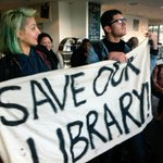 The occupation of the Library of #Birmingham, against cuts to hours and staff, is continuing until after 7pm... http://t.co/4H3juFqAua