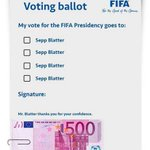 Leaked image of the ballot paper for the #FIFACongress today http://t.co/9cUVaydRQ7