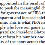 U.S. Soccer President Sunil Gulati releases statement on 2015 FIFA Presidential election result. http://t.co/jzUraQF8aM