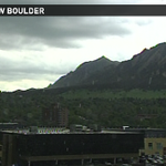 Storm cell moving into #Boulder - moderate rain now. Dime size hail, 30mph gusts possible. Any storm reports? #9wx http://t.co/1jDAhK4HSL