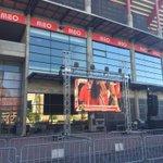 Na Praça Centenarium já está tudo pronto para ver a Final! #SejaOndeFor http://t.co/5BnKYaj82y