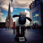 Giant #ShaunTheSheep in the #Bullring. #Birmingham #statue #sheep #aardman http://t.co/4CmXl8IhxD http://t.co/gxmbdvmWuY