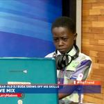 9 year old Dj Buda ushers us to a short break. Keep it #theTrend http://t.co/nYotyklGLo