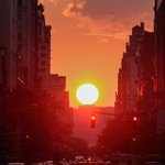 #Manhattanhenge returns to NYC tonight. More about this incredible astronomical phenomenon: http://t.co/3LaObKaq0f http://t.co/ELTp4UwBFX