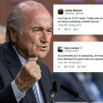 The footballing community mourned Sepp #Blatter's #FIFA presidential win: http://t.co/zkL5qHD8SD http://t.co/NpLfKOc9we