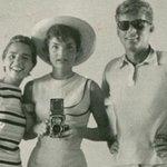 Ethel Kennedy, Jackie Kennedy and John F. Kennedy. Selfie. 1954. http://t.co/Ll0LPe8iin