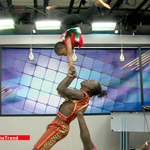 The 9 year old girl acrobat from Huruma now again showing off her skills. #theTrend http://t.co/0PtsGIgrY3