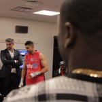 Backstage at @barclayscenter checkin in on my dude @AmirKingKhan ... Go time, baby. #PBConSpike http://t.co/1MN6CggKYf
