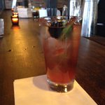 Its #BEA15 party time! Kicking things off with @Bflays Blackberry-Bourbon Iced Tea from Brunch at Bobbys. http://t.co/9KGOxcjHUp