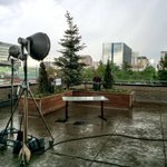 Rain, gusty winds, & small hail downtown Denver http://t.co/BcgxUpxhUn