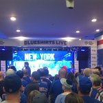 Fans at #NYRHockeyHouse are getting ready for #NYR game 7! http://t.co/bbxj0LzdT0