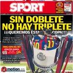 ¡Saludos a tod@s!. Esta es nuestra portada de este sábado, día en que el Barça juega la final de Copa: http://t.co/abN4rSx1A3