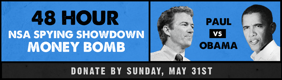 The NSA Spying Showdown is this Sunday. Will you be in my corner? Donate now: