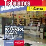 #FarmasolRacar beneficia a más de 130.000 cuencanos y cuencanas #PorCuenca. @MunicipioCuenca @CholaCabrera http://t.co/3tqamxJWqz