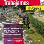 Realizamos mantenimiento permanente de las áreas verdes. #PorCuenca @CholaCabrera @MunicipioCuenca http://t.co/AabGXenP49