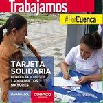 La Tarjeta Solidaria beneficia a más de 1500 adultos mayores #PorCuenca @CholaCabrera @MunicipioCuenca http://t.co/2ZNIItMmgV