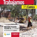 Reconstruimos mas de 15.000 metros de veredas, para mejorar la movilidad. #PorCuenca @CholaCabrera http://t.co/PPoxOkTCVc @ooppcuenca