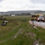 And theres your crash. 1 car rollover Hwy 83 and County Line Rd in El Paso County. Hail on the rd at the time. #COwx http://t.co/dUQzvk1kcm