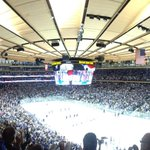 #TheGarden is electric tonight as period 1 begins in game 7 of the ECF! #LGR #NYR http://t.co/JICl5ZGBjV