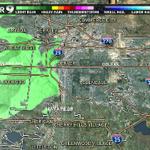 Light rain approaching #Denver! Drier, warmer this weekend! #9wx #cowx http://t.co/TKhHa7rpuo