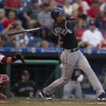 Troy Tulowitzki hits 2 solo home runs in Rockies 4-1 win over Phillies. Chad Bettis: 8 IP, 2 H, 7 K, 0 BB, 0 ER http://t.co/VLK7Ni1QrY