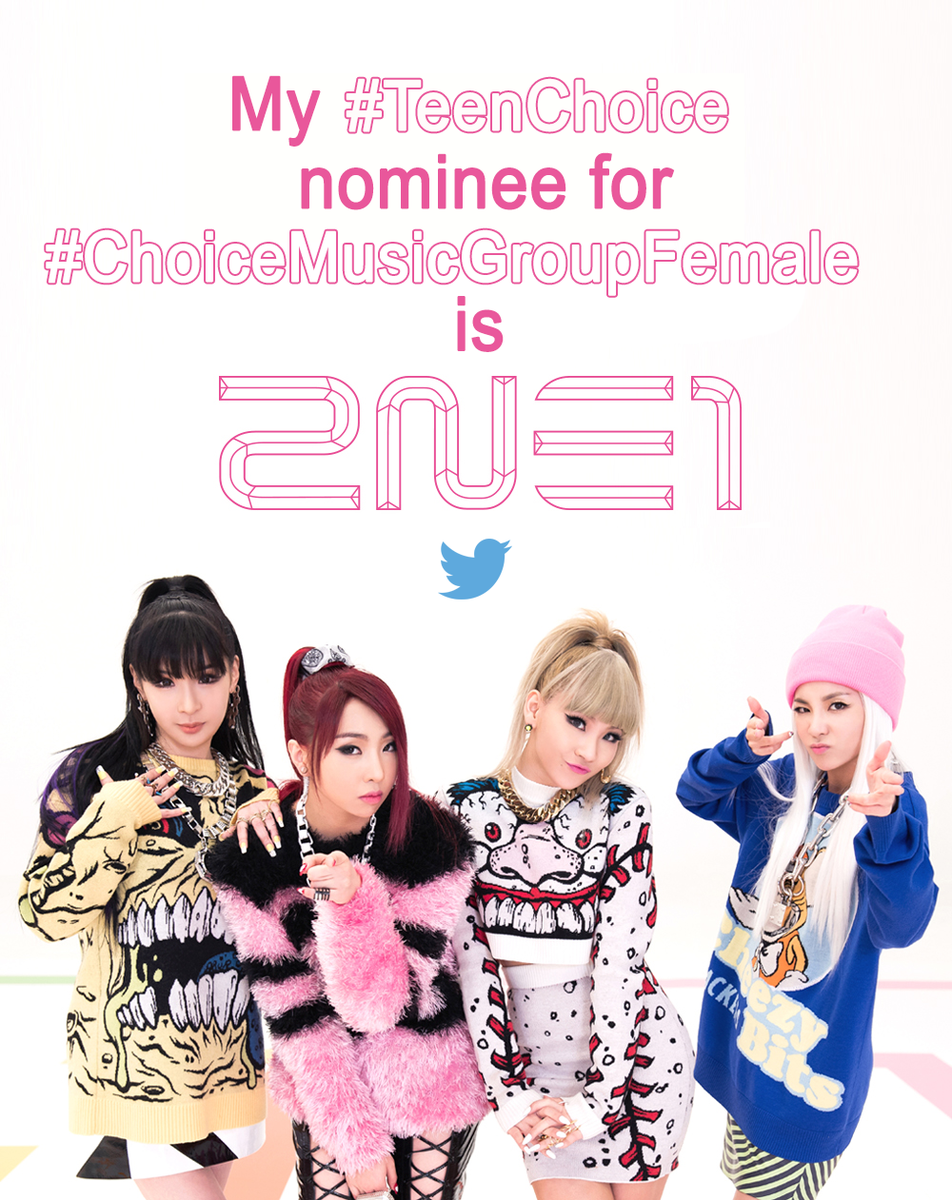 "Blackjacks, let us all support 2NE1 by tweeting ""My #TeenChoice nominee for #ChoiceMusicGroupFemale is 2NE1"" http://t.co/lrKbAJAsoK"