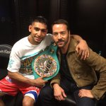 Post fight with the champ @AmirKingKhan Next up for him in Sept is @FloydMayweather http://t.co/wPiWLL9un5
