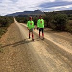 Congrats to @johnmcinroy & @Brundle3 whove walked all the way from Cape Town to run the Comrades Marathon tomorrow! http://t.co/ruFoX2oPj9