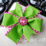 Green & Pink #PinwheelBow - clip or headband in any size. #etsymntt #shopsmall https://t.co/p9794OYRro http://t.co/eOGOdnpVPA