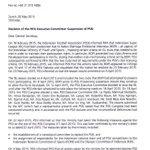 HDMT! @revolupssi Sanksi utk PSSI diputuskan di rapat exco FIFA, bukan di kongres. http://t.co/ihWgV9mwZH