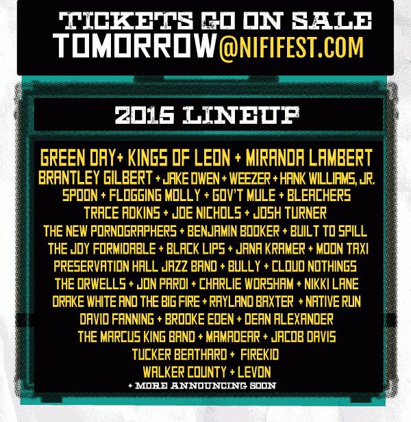 Lalu Agustus nanti Green Day bakal manggung di NiFi music fest di Kentucky bareng band2 keren lainnya! mark the date http://t.co/eJi4kvo0gf