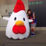 FC東京No.1アンケートにご協力いただきありがとうございました( ^ω^ ) 結果は…ビバパラを見てくださいね☆ 実際にBBQロケとかやってみたいなぁ笑 本日はローソンDayということで、からあげクンにも会ったよ???? #fctokyo http://t.co/92UV2v5ZgP