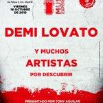 Y el 1er artista CONFIRMADO para #CocaColaMusicExperience 2015 es...DEMI LOVATO!!! @ddlovatoEnhorabuena Lovatics! http://t.co/nVE2zv2uJs
