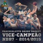 Cinco campeonatos, cinco finais e quatro títulos! Essa foi a temporada do Paschoalotto/Bauru Basket! http://t.co/RARpTmfqit