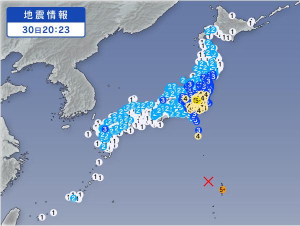 先ほどの小笠原 震度5強の M 8.5の地震ですが 590kmという深層地震ということもあり 日本のほぼ全土で揺れてます おそらく世界でも震度があるかも? 記録に残りそうですね http://t.co/B6jfEdLxmA