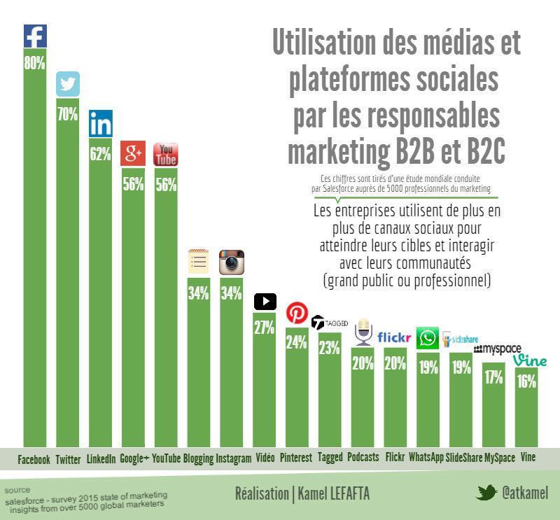 Les 16 médias les plus utilisés par les Entreprises  pour leurs campagnes de marketing digital via @atkamel http://t.co/6Xdvb4qj2n