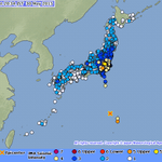 That quake was DEEP and powerful at 590km. No Tsunami but nearly everyone in Japan got a taste of it. http://t.co/F1mZhIrcw2