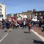 A beautiful day for a demo against austerity! #Bristol #endausteritynow http://t.co/KZZA6eeAj9