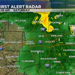Heaviest rain is over for DFW. Light showers will continue for a while longer. #dfwwx http://t.co/U39HHcMGov