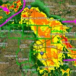 UPDATE: Rain & storms continue marching east. Im watching some wrap-around storms back NW. #dfwwx http://t.co/bd6ZWsDdnK