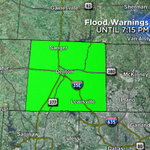 FLOOD WATCH LIFTED for n. Texas! FLOOD WARNING for Denton Co to 7:15p, Lakes Lewisville/Ray Roberts in flood. http://t.co/vFuXxSPLQE