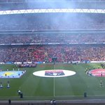 Abide With Me at Wembley. Kick off is close. Arsenal v Aston Villa live: http://t.co/WdCAmPK2db #getcarriedaway http://t.co/ott6NZtC1N