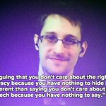 RT @headhntr: Edwards Snowdens response to the nothing to hide privacy argument is excellent. http://t.co/myMtRUmrxr