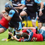 HT at the Kingspan in Belfast. Glasgow Warriors 21-10 Munster. Come on Glasgow Warriors! #PRO12Final http://t.co/d0A2eY8xtq