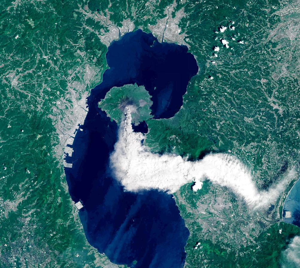 """Either someone's burning tires at the top of that mountain, or a volcano is erupting"" @DnomadB looking @NASA_Landsat http://t.co/tu2ClhqvaP"