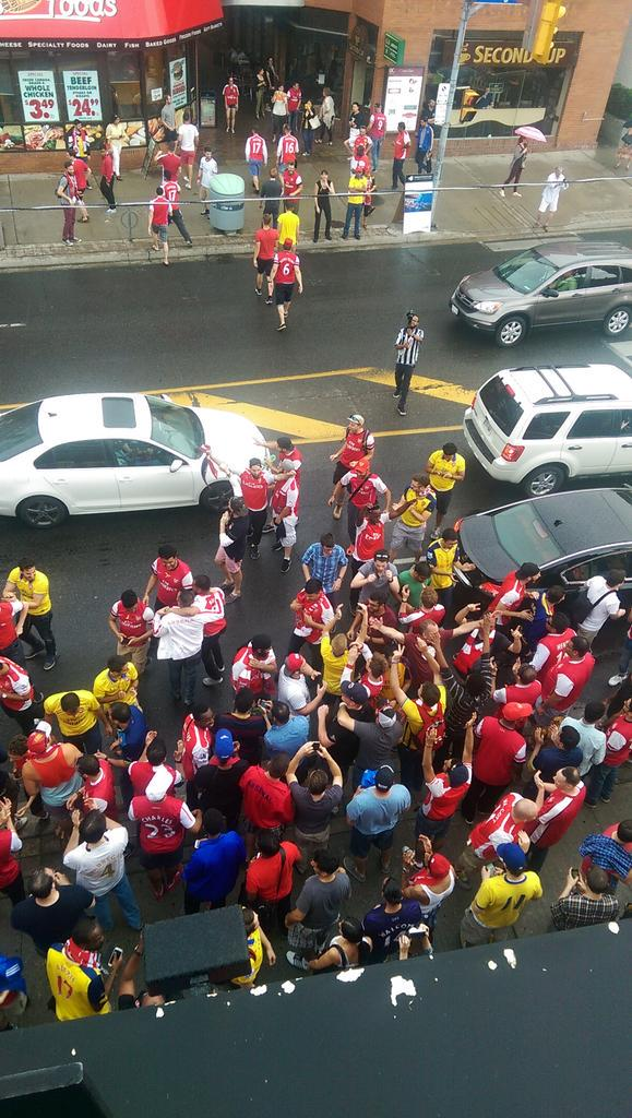 Toronto just took it to the streets @Arsenal http://t.co/WWGGPMJgQO